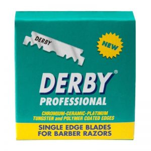Лезвия половинки Derby Professional single edge razor blade 100 шт./пак.