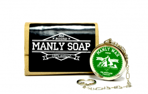 Набор: мыло Manly Soap и воск для бороды и усов Manly Wax Fresh-1